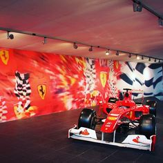 Beautiful replica of Ferrari F1 race car.  #ferrari #ferrariworld #abudhabi #emirates #exploreemirates #exploreabudhabi #visitabudhabi #visitemirates #travel #f1 #ferrari #racecar #fastcar #red #ferrarired