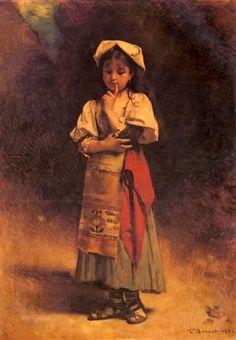 Meditation      Leon Bonnat (1833 – 1922, French)