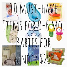 Not your typical list of baby items! This compilation of 10 lesser-known, must-have items for 0-6 month old Babies are all under $20! Perfect for first time moms, baby registry items, or to pamper a new mommy friend.