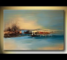 Hand painted Canvas Oil painting Wall Pictures for Living room wall decor art canvas painting palette knife landscape 044 Canvas Painting Landscape, Oil Painting On Canvas, Canvas Art Prints, Forest Painting, Canvas Canvas, Modern Art Paintings, Decorative Paintings, Modern Artwork, Hand Painted Canvas