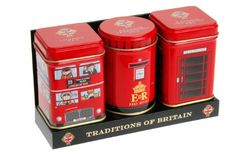 "English Tea, ""Traditions of Britain"" - Heritage Mini Tin Triple Pack, English Tea in Mini Tins - MT15: Amazon.co.uk: Grocery"