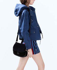 SUEDE MESSENGER BAG from Zara