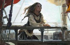 Aelin (Speedpaint: At Sea by jubliantlaine)