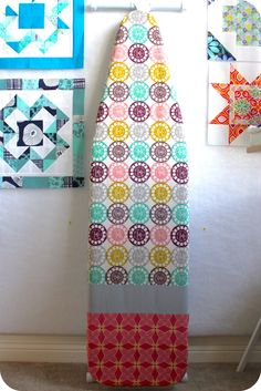 Ironing Board Cover (mine is overdue for a new one! Sewing Crafts, Sewing Projects, Ironing Board Covers, Sewing Spaces, Favorite Pastime, Sewing Kit, Blanket Patterns, Creative Things, Pin Cushions