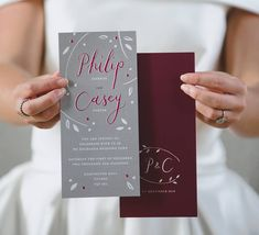 Winter Berry Christmas Wedding Day Invitations by Dearly Beloved, the perfect gift for Explore more unique gifts in our curated marketplace. Christmas Wedding Themes, Christmas Fun, Wedding Day Invitations, Wedding Stationery, Berry Wedding, Leaf Illustration, When You Are Happy, Dearly Beloved, Wedding Venues