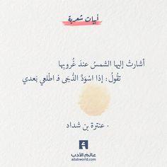 بيت غزلي رائع لـ عنترة بن شداد عالم الأدب Arabic Quotes Quotes Home Decor Decals