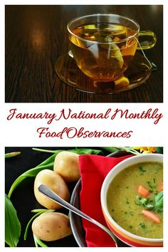 The whole month of January is celebrated for special foods. Find out what they are on Always the Holidays. Get the full list to help plan your menus and recipes for the month. #nationalfooddays #foodies #recipes
