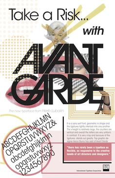 Take a risk with Avant Garde