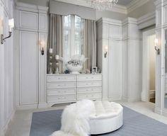 beyaz giyinme odası