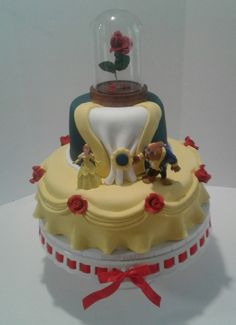 Beauty And The Beast Theme Cake on Cake Central