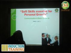 """An In-house HR Induction & Training Workshop was organized on """"Communication & Basics of Etiquettes"""" for 3Aworld Family."""