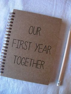 HARD COVER – Our First Year Together – Letter pressed x inch journal – Presents for boyfriend diy Diy Christmas Gifts For Boyfriend, Creative Gifts For Boyfriend, Diy Gifts For Girlfriend, Cute Boyfriend Gifts, Diy Gifts For Dad, Diy Gifts For Friends, Presents For Boyfriend, Christmas Diy, Present Boyfriend