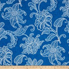 Richloom Solarium Outdoor Ellie Baltic from @fabricdotcom  Screen printed on polyester, this Solar outdoor fabric will withstand up to 500 hours of sunlight exposure, resists stains, is water resistant and has 10,000 double rubs. Perfect fabric for porches, patios, deck side, pool side and boat side.  Create toss pillows, cushions, upholstery and great for tabletop, tote bags and more. To maintain the life of the fabric bring indoors when not in use. This fabric can easily be cleaned by…