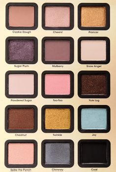 """I'm obsessed with """"Prancer"""" right now. It's a gorgeous copper shade that looks great blended with a taupe shadow to really make my green eyes pop! Too Faced Joy to the Girls Eyeshadow Palette (Christmas 2013)"""