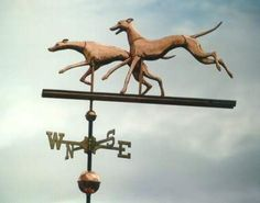 Dog Weathervanes, Whippet Dogs, Double, photo