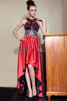 Empire Halter Red Sexy Hi-Lo Cocktail Dresses 2014 New Fashion 30841