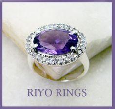 #Amethyst Gemstones 92 5 Silver Finger Armor #Ring #Jewelry Sz 8 SRAME8 0252 | eBay