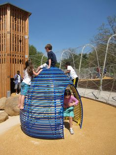 Field Operations - Woodland Discovery Playground at Shelby Farms Park Playground Set, Playground Design, Outdoor Playground, Cool Playgrounds, Outdoor Play Equipment, Sport Park, Play Spaces, Green Building, Play Houses
