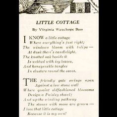 Little Cottage Think I will frame this. It is the perfect description of a little cottage. Cottage Living, Cozy Cottage, Cottage Homes, Cottage Style, Witch Cottage, Lake Cottage, Pomes, Irish Cottage, Tudor Cottage