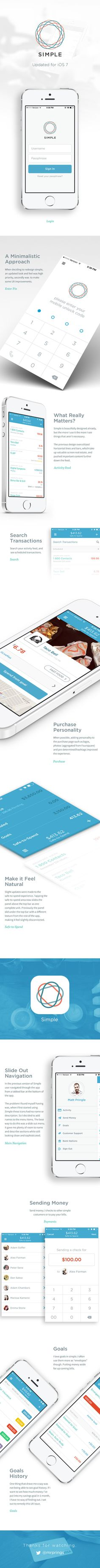Simple. Updated for iOS 7 by Matt Pringle, via Behance