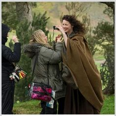 Caitriona, behind the scenes