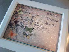Nursery art print baby girl  baby shower gift unframed butterflies wall art