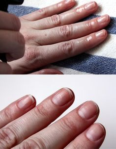 Spray rubbing alcohol onto finger tips to remove as much oils as possible. The oil on your nails and nail beds are what prevent the nail polish from sticking. This is an awesome manicure tutorial.   # Pin++ for Pinterest #