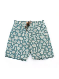 Cacti Boardshorts in Capitola Green. Artwork by Nat Russell.
