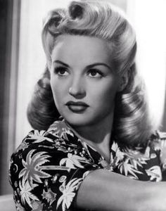 The one and only GORGEOUS Betty Grable! Classic retro hairstyle. #VictoryRolls