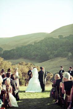Ceremony in Central Coast Rolling Hills    Romantic Wedding   Lovelyfest Event Design   San Luis Obispo, California Wedding