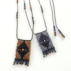 """Rhombus"" necklace just arrived!!!!! ♦✨#macrame #handmade #handbraided #necklace #pendant #jewelry #accessories #newin #greekdesigners #mast_stamopouloumaria #semiprecious #hematite #beads #geometric #rhombus #symmetry #addiction #fashion #boho #bohochic #hippiechic #instafashion #instafall #instadaily #instajewelry #fall16 #falltrends #jamjar_gr #esopou soon available in @jamjar_gr"