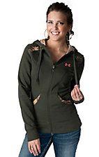 Under Armour® Women's Moss Green & Camo Full Zip Long Sleeve Hoodie