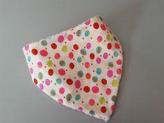 Bavoir bandana coton imprimé ronds multicolores : Mode Bébé par ma-choupinette