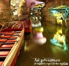 Howe Caverns in Howes Caves, NY Saw this on our way to Cooperstown.  We rode this boat during part of the tour.