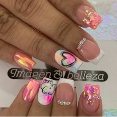 Fabulous Nails, Perfect Nails, Gorgeous Nails, Pretty Nails, Simple Nail Art Designs, Beautiful Nail Designs, Nail Polish Designs, Glow Nails, Glamour Nails