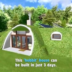 Custon built hobbit houses anyoneYou can find Hobbit houses and more on our website.Custon built hobbit houses anyone Silo House, Tiny House Cabin, House Roof, Tan House, Tiny House Village, Brown House, Earth Sheltered Homes, Sheltered Housing, Modern Bungalow House
