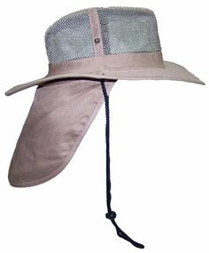 6dcf07203c8ab Tropic Hats Wide Brim Men Safari Outback Summer Hat w Neck Flap 2 Wide Brim  Mesh Summer Hat with Neck Flap for Anytime Out in the Sun. Nice Airy Mesh to