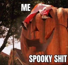Me: Spooky shit Halloween Quotes, Halloween Horror, Spooky Halloween, Happy Halloween, Halloween Party, Funny Halloween, Favorite Holiday, Holiday Fun, Funny Images