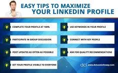 Easy Tips To Maximize Your LinkedIn Profile!  #LinkedIn #socialmedia #Business