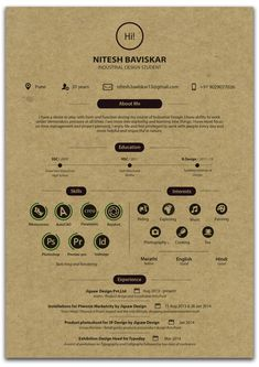A selection of 40 creative resume templates from people who understand the power of resume. They've created the best resume templates we've ever seen. Graphic Design Resume, Resume Design Template, Creative Resume Templates, Creative Resume Design, Cv Template, Resume Layout, Resume Cv, Portfolio Resume, Portfolio Design