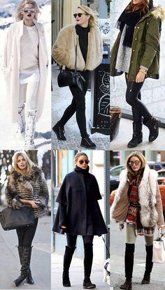 Dicas e inspirações de looks para o inverno, super styling e charmosos