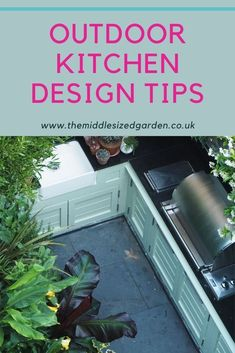 How to design your outdoor kitchen - great ideas for both DIY and installed kitchens, tips on countertops, pavers and more #gardening #middlesizedgarden #backyard #garden Privacy Plants, How To Grow Taller, Tall Plants, Colorful Garden, Garden Furniture, House Plans, Backyard, Entertaining, How To Plan