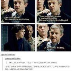 John pulling rank x] (Johnlock) sherlock looks so proud! Sherlock John, Sherlock Poster, Sherlock Fandom, Holmes Sherlock Bbc, Quotes Sherlock, Jim Moriarty, Funny Sherlock, Watson Sherlock, Sherlock Season