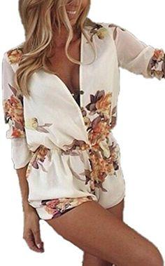 6f43f9feea0 Yabina Womens Summer Clubwear Playsuit Party Beach Jumpsuit Romper (Us8