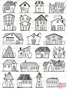 Doodle Haus Clipart Haus Vektor Kunst Haus Haus Stadt Stadt Haus PNG Dwelling Vector Obtain Haus Illustrationen 101 Doodle Drawings, Easy Drawings, Easy Sketches To Draw, Cool Art Drawings, Haus Vektor, Art Haus, Image Clipart, House Illustration, Beauty Illustration