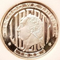 .999 Fine Silver 1932 WASHINGTON QUARTER DESIGN Token Medal CREMONA COMPETITION