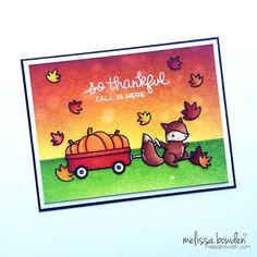 Lawn Fawn So Thankful Card by Melissa Bowden