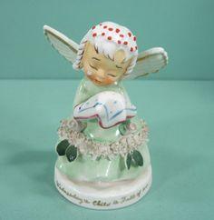 "Adorable Vintage Napco ""Wednesday's Child Is Full Of Woe"" Angel Figurine"