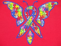 Autism Butterfly Adult Tshirt on Etsy, $20.00