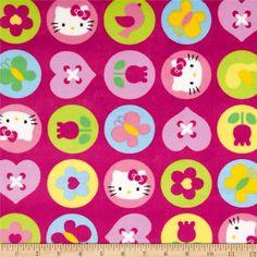 Hello Kitty Minky Ol Polka Dot Badge Pink